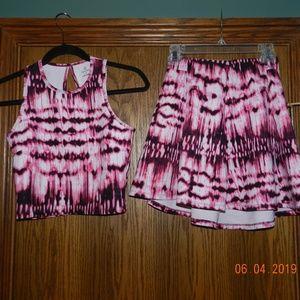 Women's Decree Two Piece Casual Skirt Set